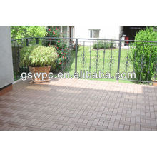 ¡Suelo resistente a la grieta durable de la grieta de WPC DIY / caliente !!! 2013 nuevo estilo y suelo DIY compuesto popular de DIY WPC
