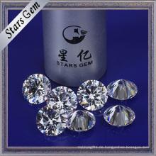 Weiße Farbe 12mm runden Stern schneiden Zirkonia