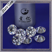 Color blanco 12 mm Ronda Star Cut Cubic Zirconia