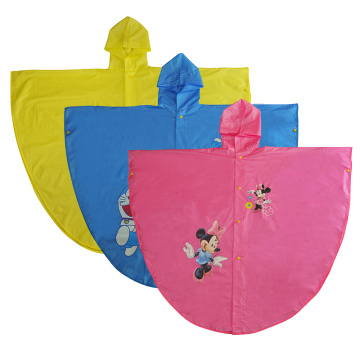 Durable Children Plastic Rain Poncho