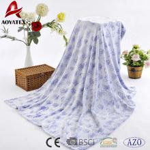 Nuevo diseño personalizado estampado en la parte inferior tallada manta de lana de franela tallada