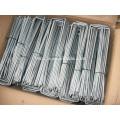 Galvanized 12GA sod staples / artificial grass pin / U pins for grass