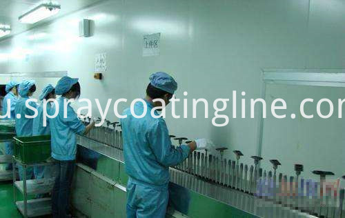PU spray painting line