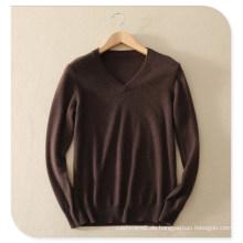 2017 Men's Knittwear 100% Cashmere Pullover Pullover Langärmelige V-Ausschnitt Pure Kaschmir Strickpullover