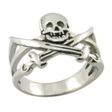 Anillo de acero inoxidable anillo de pirata