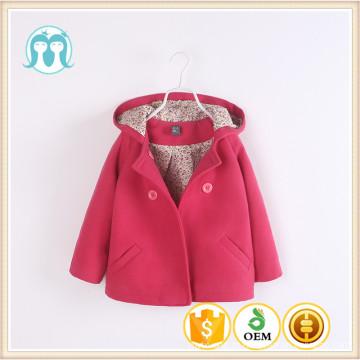 Casacos de manga cheia de natal crianças nylon de algodão moda asiática casacos de inverno bebê meninas rosa escuro para as meninas novas