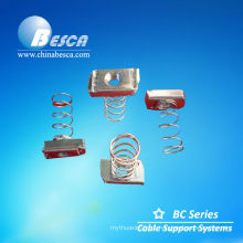 Cable tray assemblies, U channel and nuts