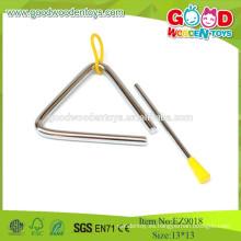 EZ9018, 2015 Instrumentos baratos y de calidad superior del juguete, juguete musical de madera del triángulo, juguetes musicales de acero
