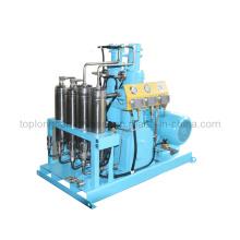 Compressor de nitrogênio de hélio com oxigênio O2 sem óleo