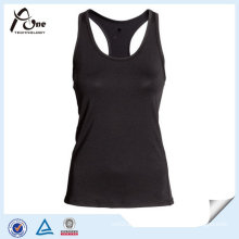 Y-Back Polyester Elastane Women Tank Top for Gym Wear