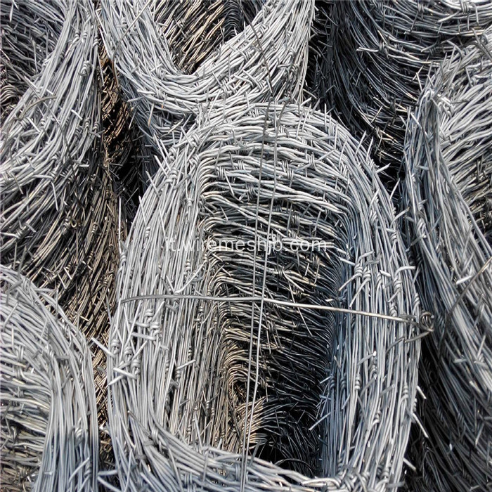 12 * 12 Double Twist Barbed Wire per recinzione