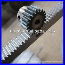 Cremalheira e pinhão de engrenagem de alumínio / aço / aço inoxidável
