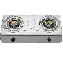Stainless Steel Double Burner Gas Hob, Gas Stove