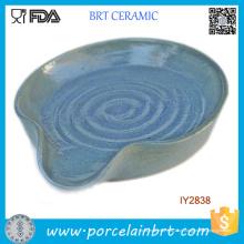 Cerâmica Hot Blue Nice-olhando Spoon Descanso Atacado