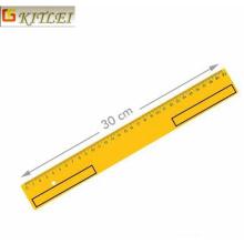 Hot Sale 30cm Clear PVC Flexível Régua Régua de plástico macio