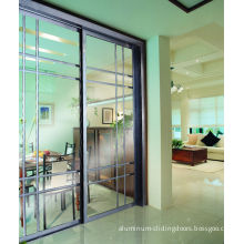 Cy818e-809 Soundproof Partition Sliding Doors With Grass, Internal Aluminum Metal Room Dividers Factory