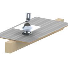 Système de montage solaire à la maison en aluminium de toit plat de tuile de preuve de fuite de 20KW