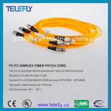FC Cable de cable de fibra óptica de un solo modo