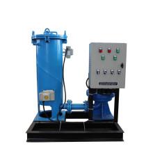 Sistema de limpieza de tubos de latón con condensador de goma en línea