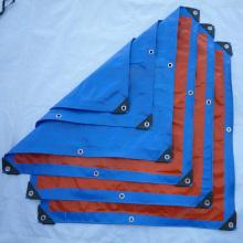 bâche de bâche bleue résistante avec oeillets renforcés