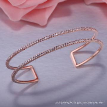 Délicats beaux bracelets en argent 925