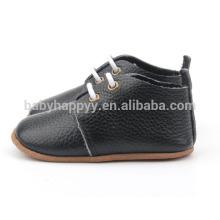 El calzado caliente del cuero de la calidad calza los zapatos de cuero puros del bebé Venta al por mayor