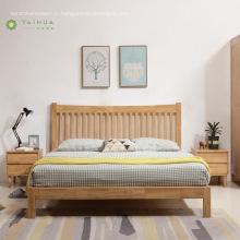 Bois massif avec tête de lit verticale en bois