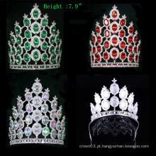 Coroa de Cristal Crown Rhinestone Tiara Pageant Big Crowns