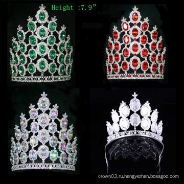 Кристальная крона горный хрусталь Тиара Pageant Big Crowns