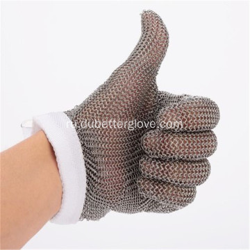 5+Fingers+Steel+Chain+Mail+Mesh+Gloves