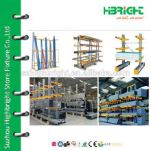 Customized cantilever shelving for warehouse storage equipment