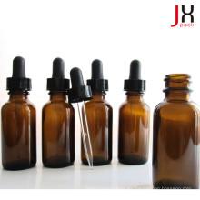 Botella de vidrio ámbar farmacéutico Aceite esencial Botella redonda de Boston
