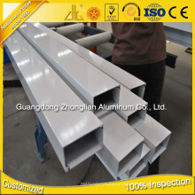 6063 T5 Aluminum Profile Accessories Cajas Aluminio Extrusión Square Tube