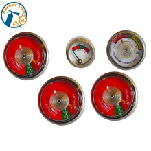 China high quality powder extinguisher valve mini pressure gauge 23mm for fire extinguisher