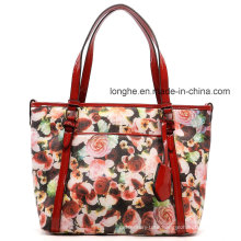 Leisure Large Capacity Flower Printed Ladies Tote Bag (ZXS0038)