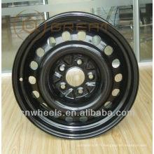 Roues de voiture 15x6J en acier noir pour BMW, Benz, roue de neige / roue d'hiver