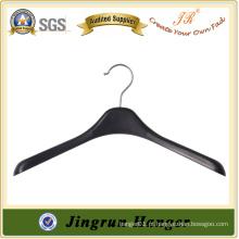 Preço de fábrica Gancho de roupa usado Cabide preto de camisola de plástico