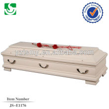 traditional natural polished velvet cheap coffins