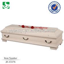 традиционные velvet природных полированной дешевые гробы