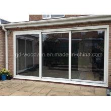 Woodwin Puerta corredera de vidrio templado interior o exterior de aluminio