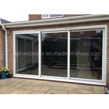 Вудвин интерьер или внешний алюминиевый закаленное стекло раздвижные двери