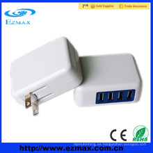 Adaptador de viaje 4 usb ports eu y uk usb cargadores para móviles todo en uno