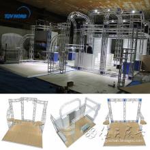 Stand de truss de exposición de aluminio de 3x6m, braguero de feria