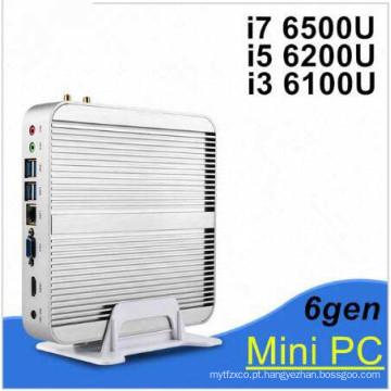 Barebone Mini PC 4 k Vídeo Núcleo I3 6100u Windows 10 HDMI VGA PC Sem Fio Intel Gráficos 520 Upto 1GHz