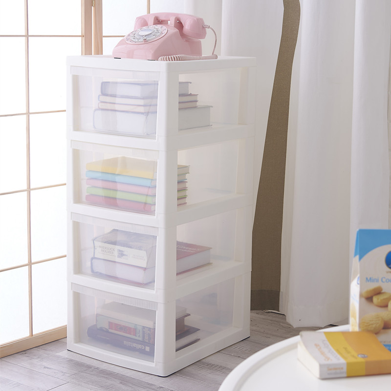 4 tier plastic storage