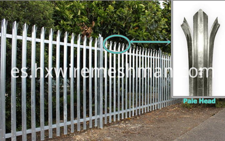 galvanised steel palisade fence