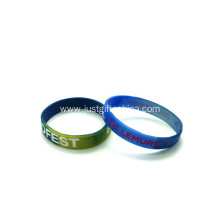 Custom Swirled Wristbands With Infilled Logo