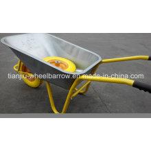 Carretilla neumática resistente de la bandeja del metal de la rueda, carretilla de rueda constructiva Wb5009