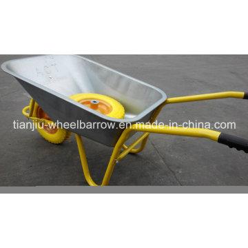 Heavy Duty Pneumatic Wheel Metal Tray Wheelbarrow, Wb5009 Building Wheel Barrow