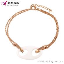 Pulsera de cerámica de la joyería del acero inoxidable de la manera del oro de Rose en la aleación para las mujeres -74233